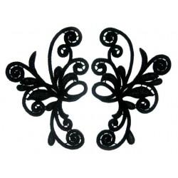 Gipiura Mystic motif pair BLACK