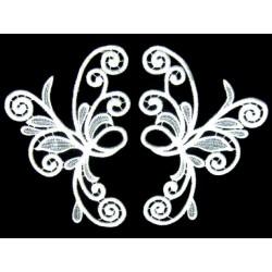 Gipiura Mystic motif pair WHITE