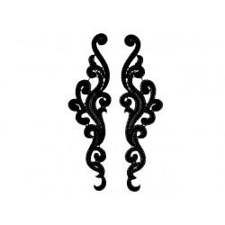 Gipiura Eternal motif pair BLACK