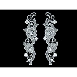Gipiura Antique motif pair WHITE