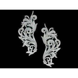 Gipiura Freedom motif ANTIQUE SILVER