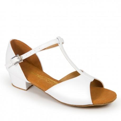 Buty dziewczęce do łaciny G1011 - BIAŁE