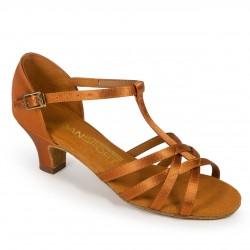 Buty dziewczęce do łaciny G1012 - TAN SATIN