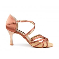 Buty damskie bronze dark satin PortDance PD802 PRO