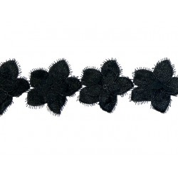 Gipiura Sienna ribbon BLACK