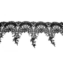 Gipiura Isabelle ribbon BLACK