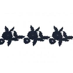 Gipiura Saphora ribbon BLACK