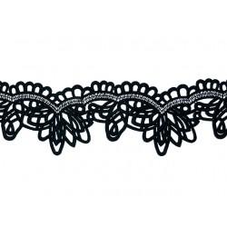 Gipiura Florence ribbon BLACK