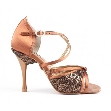 Buty damskie bronze dark satin PortDance PD801 PRO