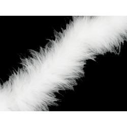 Pióra marabou WHITE