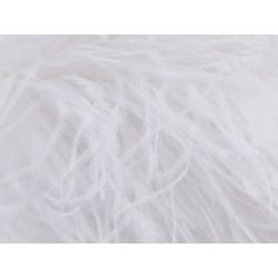 Pióra strusie BOA WHITE