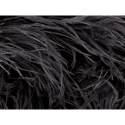 Pióra strusie na taśmie BLACK