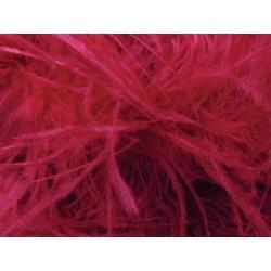 Pióra strusie na taśmie CHERRY RED