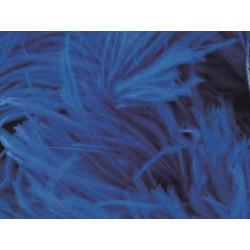 Pióra strusie na taśmie ELECTRIC BLUE